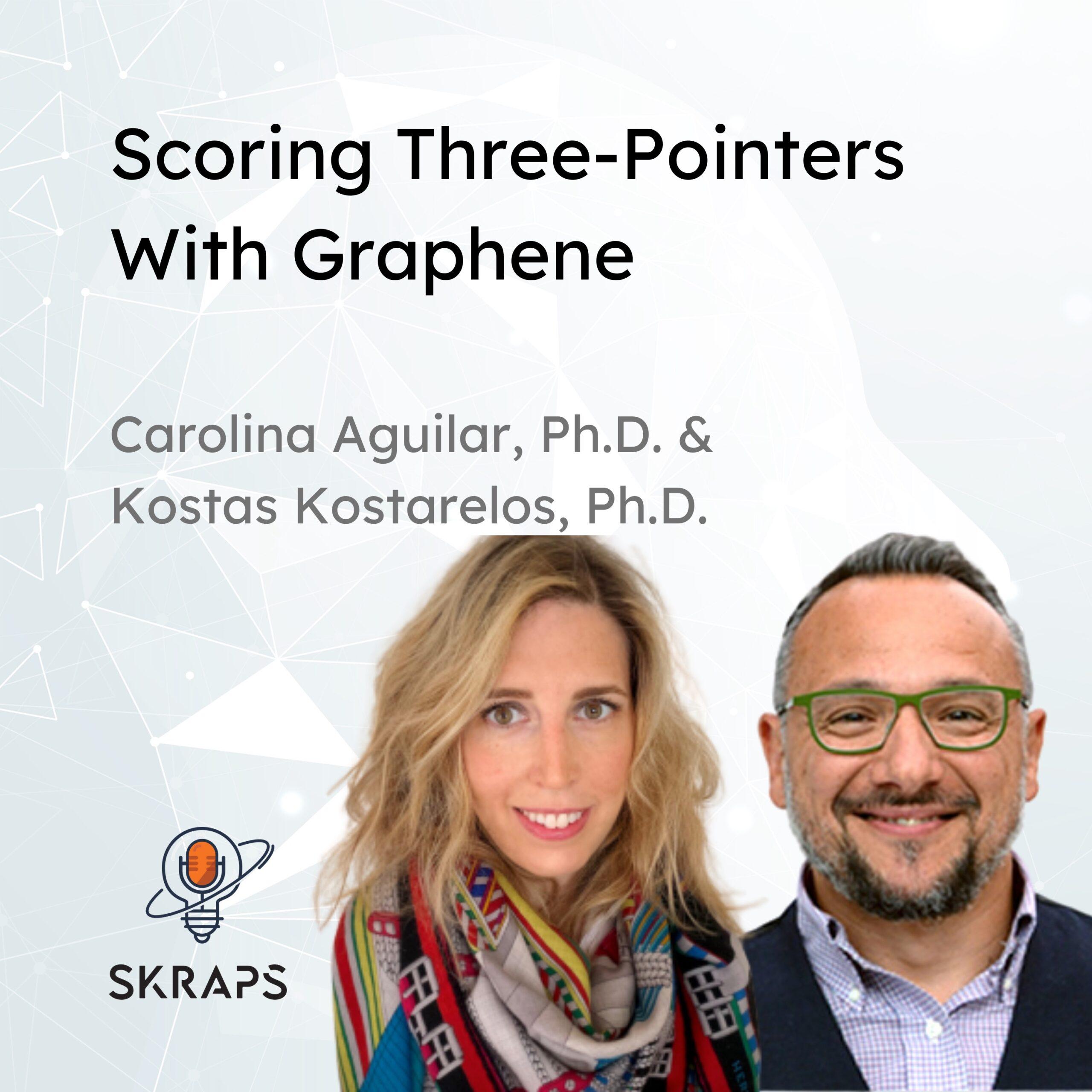 Scoring three-pointers with Graphene